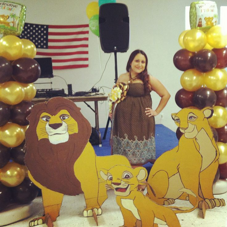 my sisters simba baby shower lion king cutouts