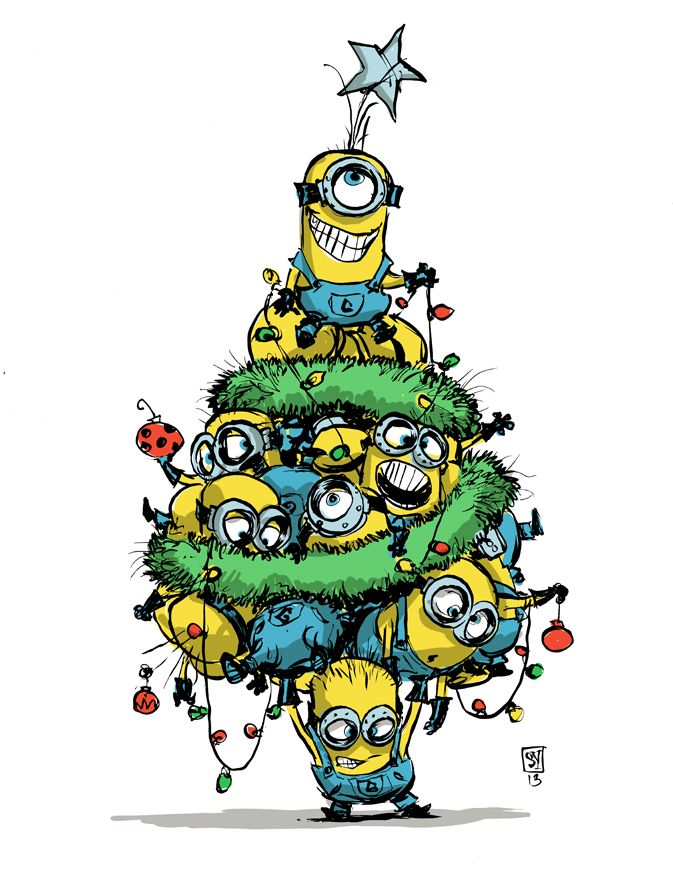 #DailySketch It's a very Minion Christmas. I love these little guys. Seriously. Animated movies have always had the wacky sidekick. De...