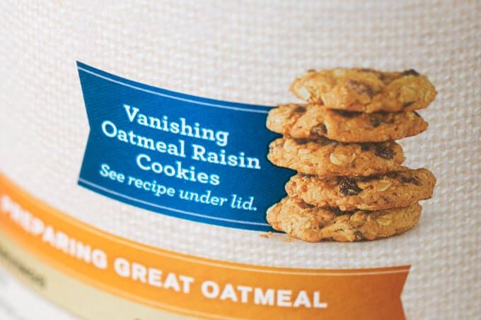 The classic Quaker oatmeal cookies recipe from the old-fashioned oats box or canister, plus tips for making these cookies come out perfectly!