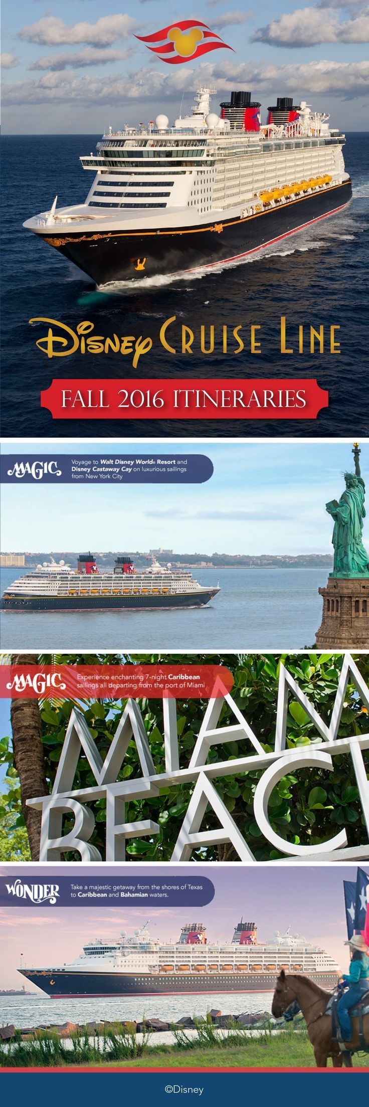 In the fall of 2016 disney cruise line will return to new york for a