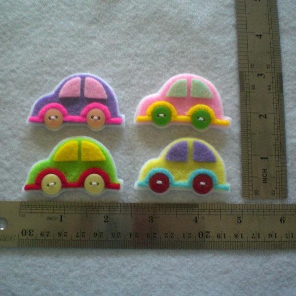 Handmade Car Felt Applique - stinkin cute