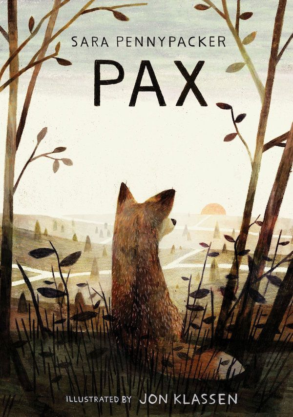 Pax by Sara Pennypacker and Jon Klassen. | Fox bookcover illustration design
