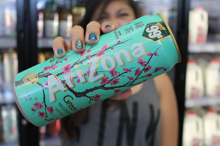 Arizona tea! Love it.. Sooooooo good. Is it only me or do Arizona tea always remained You of Bethany Mota. I love her, she's my inspiration and......Sorry I'm getting carried away.
