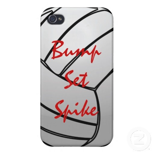 Bump Set Spike Volleyball iPhone 4 Cases