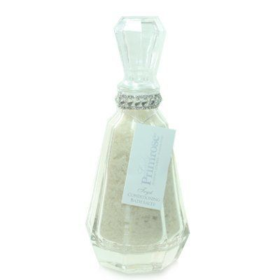 Lady Primrose Tryst Bath Salts Decanter by Lady Primrose. $48.00. 12 ounces. Your skin will drink the benefits of the detoxifying and conditioning bath salts, leaving a soft healthy glow. Glass container matches the Tryst Body Velvet (#12-01068) and Bathing Gel (#13-01068) Decanters.