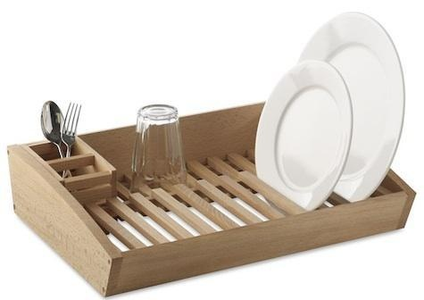 Wooden dish rack dish racks products and dishes for Kitchen drying rack ikea