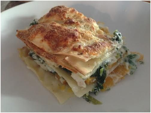 Homemade Lasagna with Butternut Squash & Broccoli Rabe, and I added ...