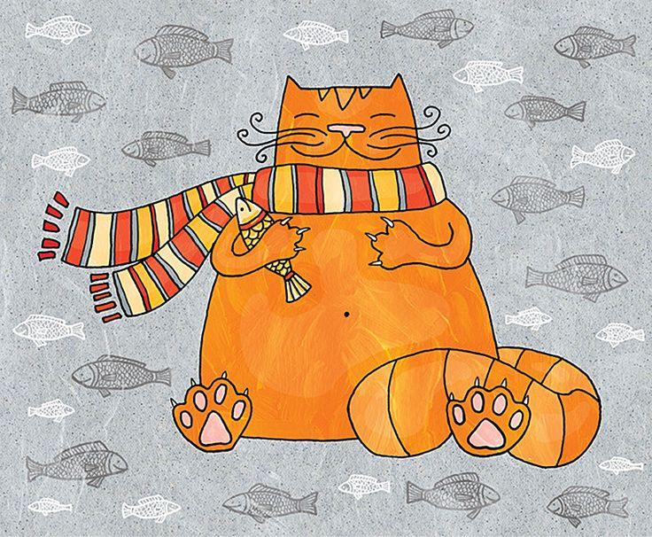 Рисунки смешных рыжих котов
