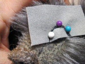 3. Картинку настоящего мишки используем, чтобы видеть как лучше разместить уголки глаз.