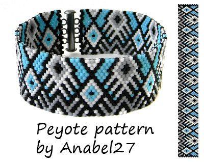 Peyote Pattern 38 peyote stitch bracelet par ColorfulBeadPatterns
