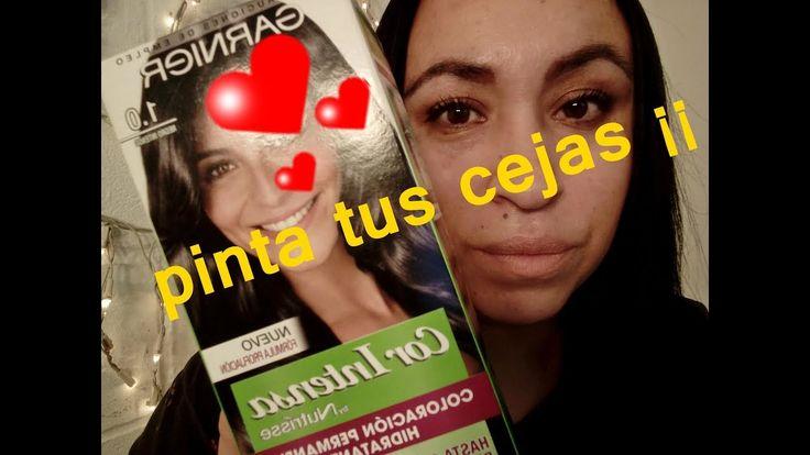 COMO PINTAR LAS CEJAS  CON TU TINTE¡¡¡ Maria Daniela
