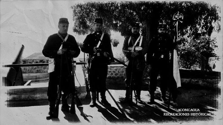 Recreando la historia en el Regimiento de Infantería Maipo N° 2, en Playa Ancha, Valparaíso.