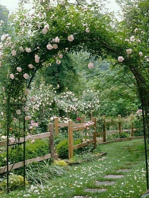 Les 25 meilleures id es de la cat gorie arches de jardin sur pinterest arca - Comment faire une arche ...