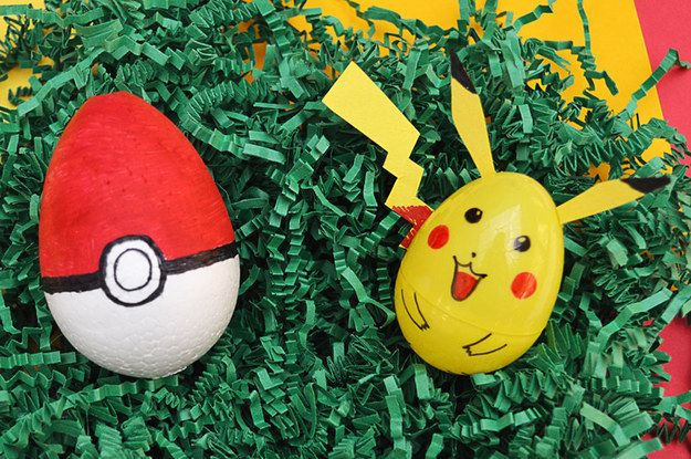 Pokémon-Inspired Eggs | 19 DIY Easter Eggs That Don't Require Actual Eggs