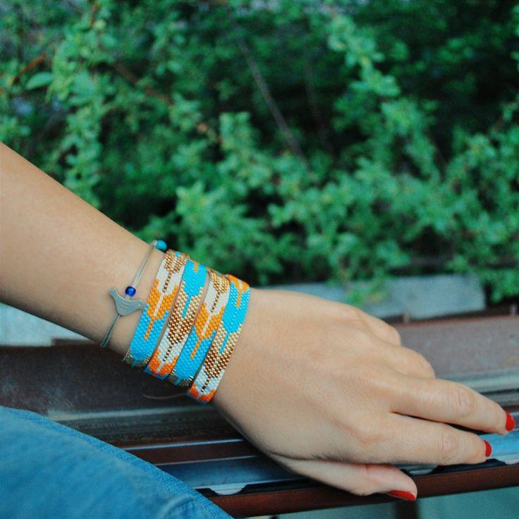 handmade miyuki wrap bracelet