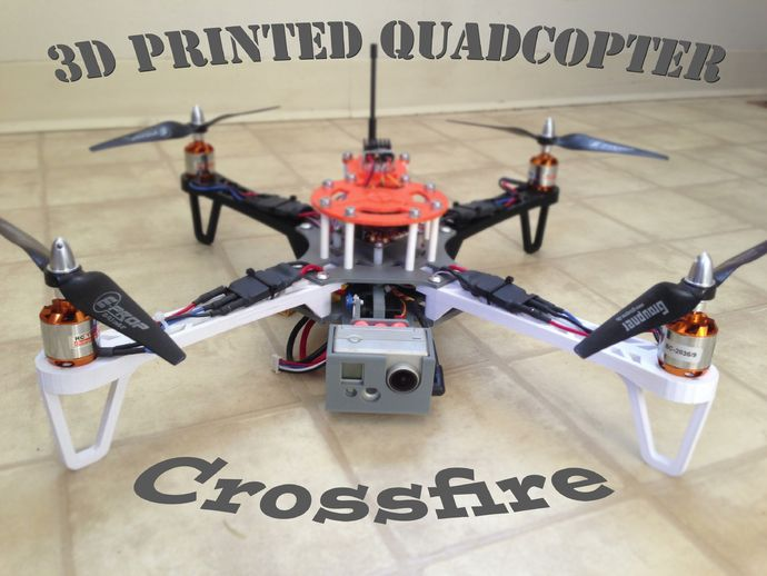 3d printed fpv quadcopter crossfire by mikeyb for Drone surf fishing