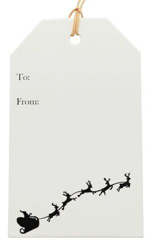 Santa Sleigh Cardboard tag. #Barama #Gifttags #Tags #christmastags #Christmasdecoration #Christmas #Cardboardtag #Santasleigh #Reindeers #Presents #giftpackaging #gifts