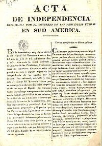 A very important historical event for Argentina is their declaration of independence on July 9th, 1816.