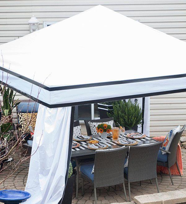 Patio Cabana Ideas For an Outdoor Dining Area | Patio ... on Patio Cabana Ideas id=18466