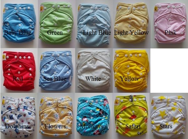 Giggle Life Ultra Soft Cloth Diaper Pattern Options