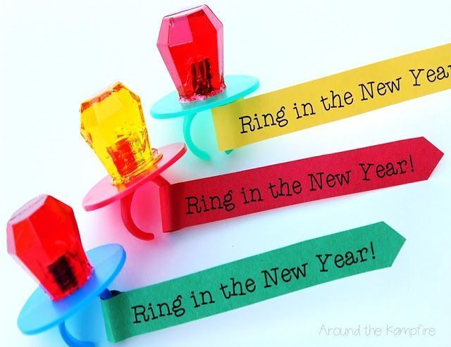 "Free printable ""Ring In the New Year"" ring pops 