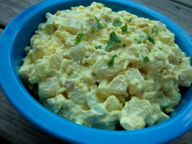 Jamaican Potato Salad recipe link    http://www.jamaicans.com/cooking/vegetables/jamaican-potato-salad.shtml