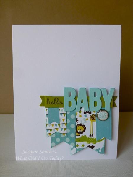 CAS Baby Boy card