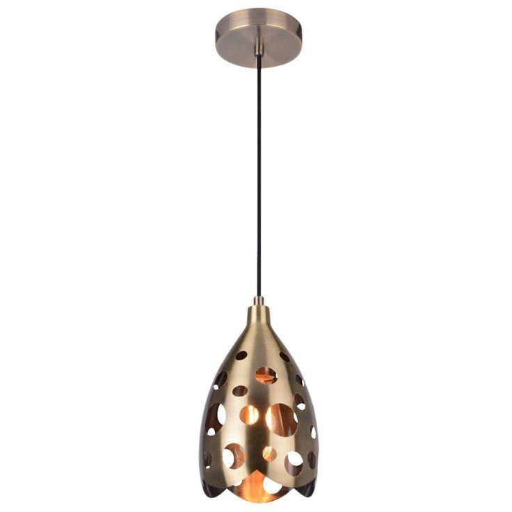 Ażurowa LAMPA wisząca LAMP 577/1 orientalna OPRAWA metalowa ZWIS kropla łezka patyna