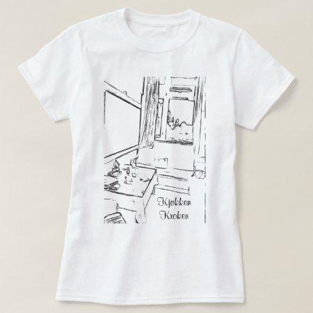 Pause rommet  med teksten kjøkken kroken T-Shirt - click to get yours right now!