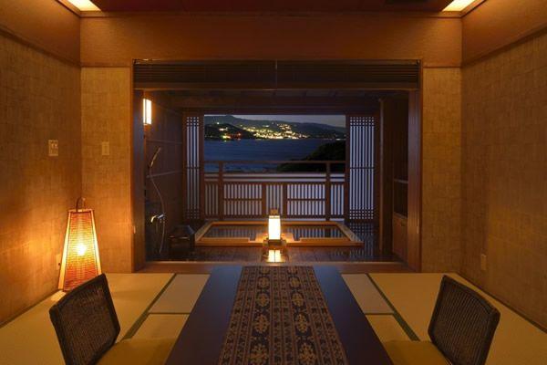 本館客室のご案内 風の間 時間を旅する宿 海のはな は全室露天風呂付の温泉旅館 旅館 宿 露天風呂