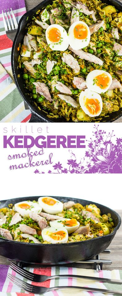 Kedgeree is an anglo Indian dish traditionally made with smoked haddock my version uses smoked mackerel and is chock full of British Indian flavours!