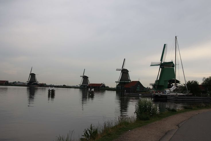 #countryside #dam #dutch #holland #netherlands #river #traditional #travel #turn #wind #wind mills #zaanse schans