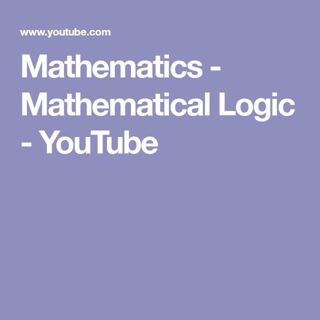Mathematics - Mathematical Logic - YouTube