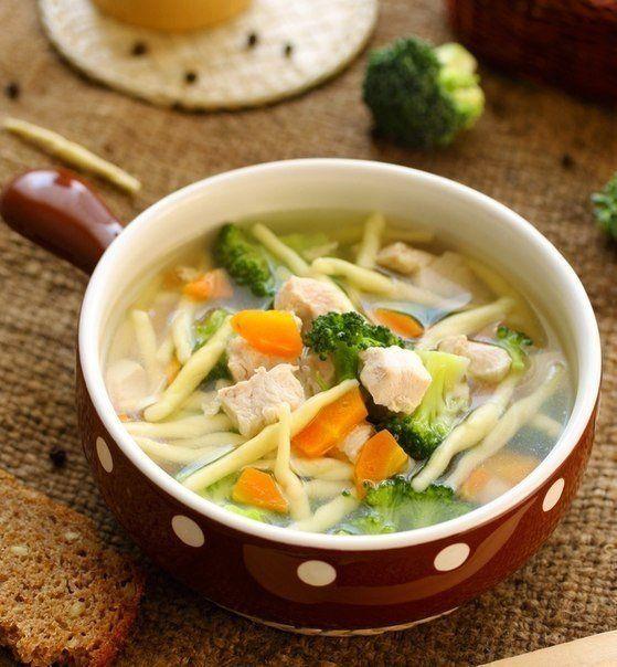 Диетический куриный суп с брокколи / Дети - это счастье!