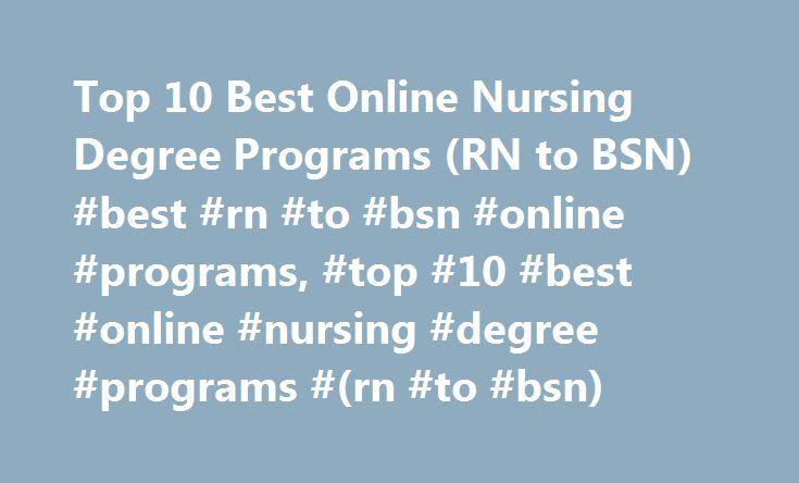 Top Rated Online Nursing Degree
