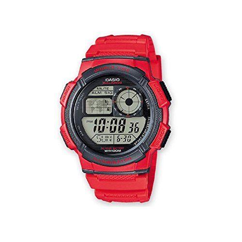 Casio Herren Uhr Digital mit Resinarmband AE-1000W-4AVEF