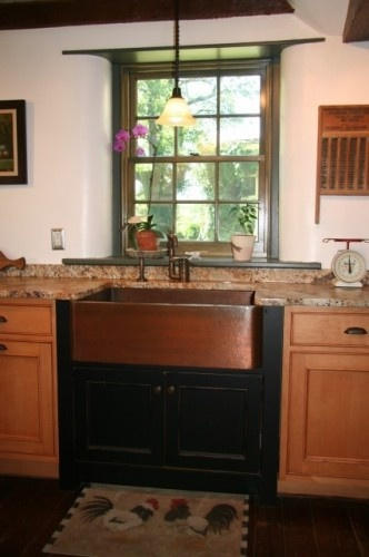 27 best images about farmhouse kitchen sinks on pinterest for Coloured sinks kitchens