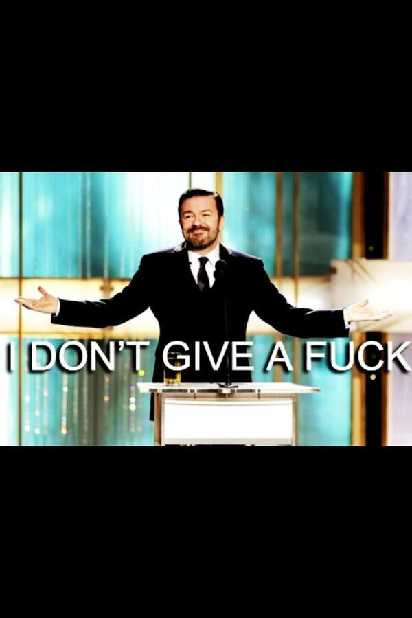 Ricky Gervais. Hilarious, kind, animal rights activist, real, brash, honest, intelligent, great laugh, best smile. FUN.