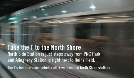 Ride the Port Authority buses & the T (subway) system for free with your Pitt ID!