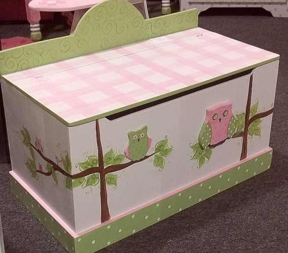 FREE SHIP  Toy Chest Owl Decor Toy Box ANY Color or by spoiltrottn, $189.95
