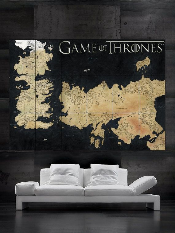 Game Of Thrones Wall Art best 20+ game of thrones map ideas on pinterest | westeros map