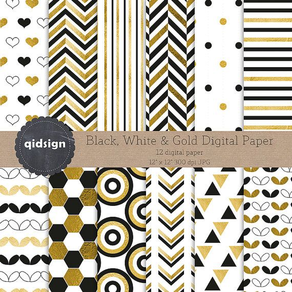 Hey, I found this really awesome Etsy listing at https://www.etsy.com/listing/244735635/black-white-and-gold-digital-paper