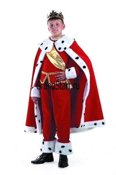 Костюм короля рубаха пояс накидка корона