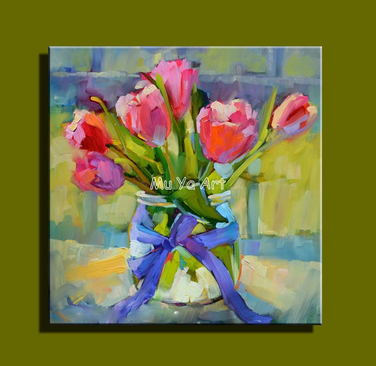 Les 25 meilleures id es de la cat gorie fleurs de peinture l 39 huile sur - Peinture huile abstraite ...