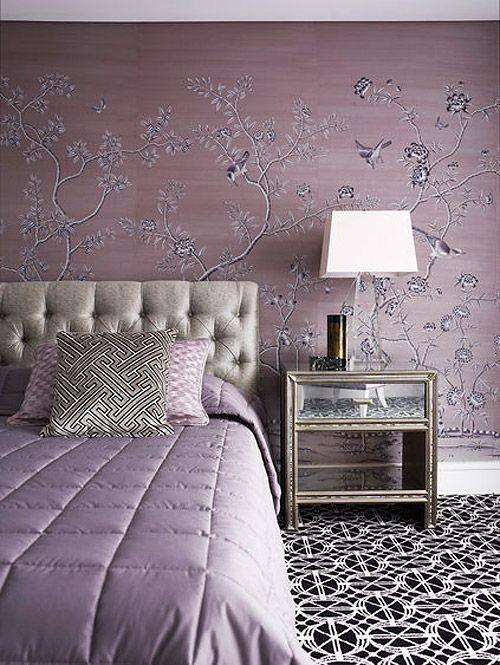 Greg-Natale. Love the lilac with the black geometric carpet.