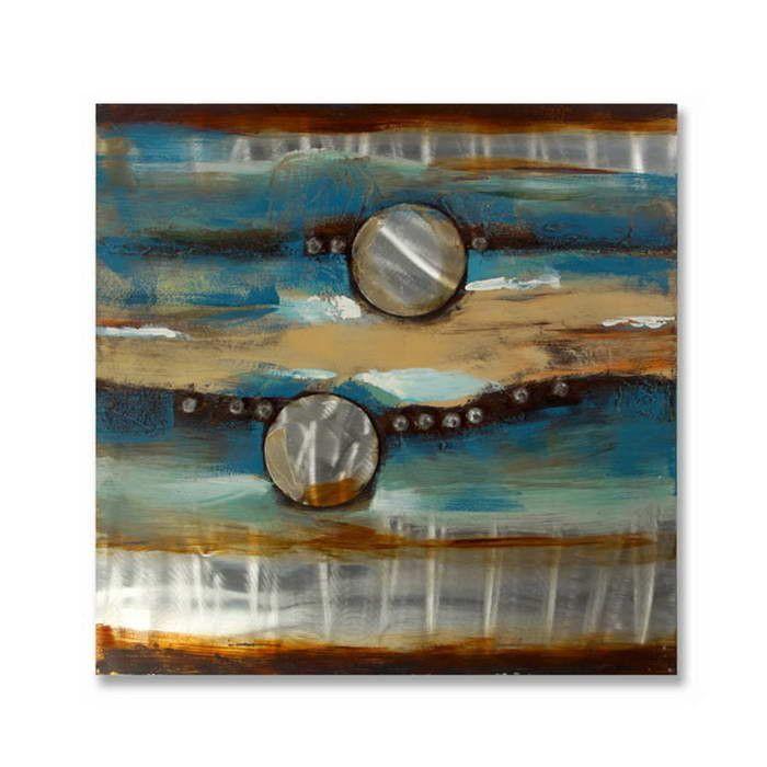 Obraz olejny na aluminium ArteHome Dwa Księżyce | sklep PrezentBox - akcesoria, zegary ścienne, prezenty