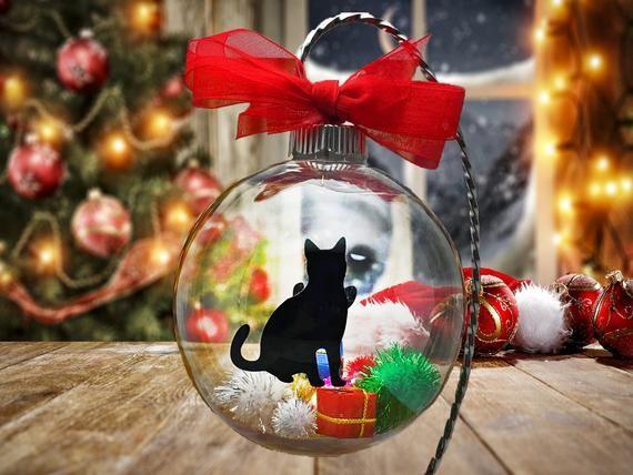 Pet Lover Gift Pet Love Christmas Ornaments Cat Lover Gift Pets Holiday Ornament Glass Ornaments Dog Lover Gift