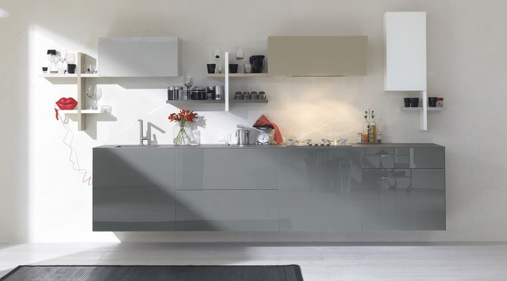 The glass of LAGO kitchen gives different shapes to your room. #lagodesign #interiordesign #kitchen
