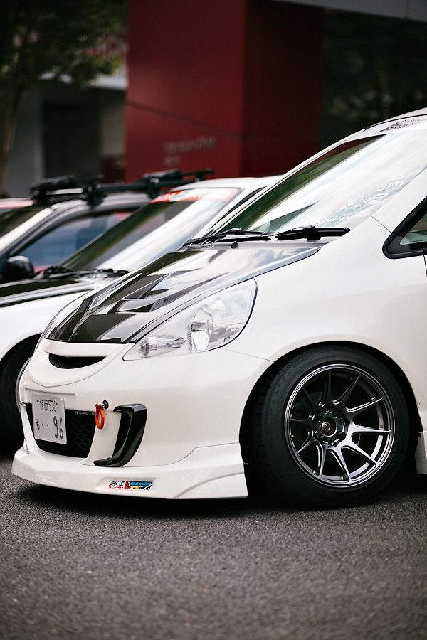 Fit, Hellaflush, Lowering springs, Honda Fit, Japan, Japanese Fit, Cameron Kline Photography