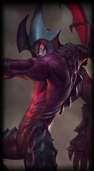 Aatrox. Only a 78% positive vote for this, but he's still pretty new.